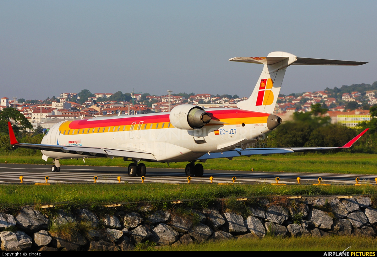 Air Nostrum - Iberia Regional EC-JZT aircraft at San Sebastian