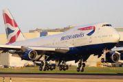 G-BYGF - British Airways Boeing 747-400 aircraft