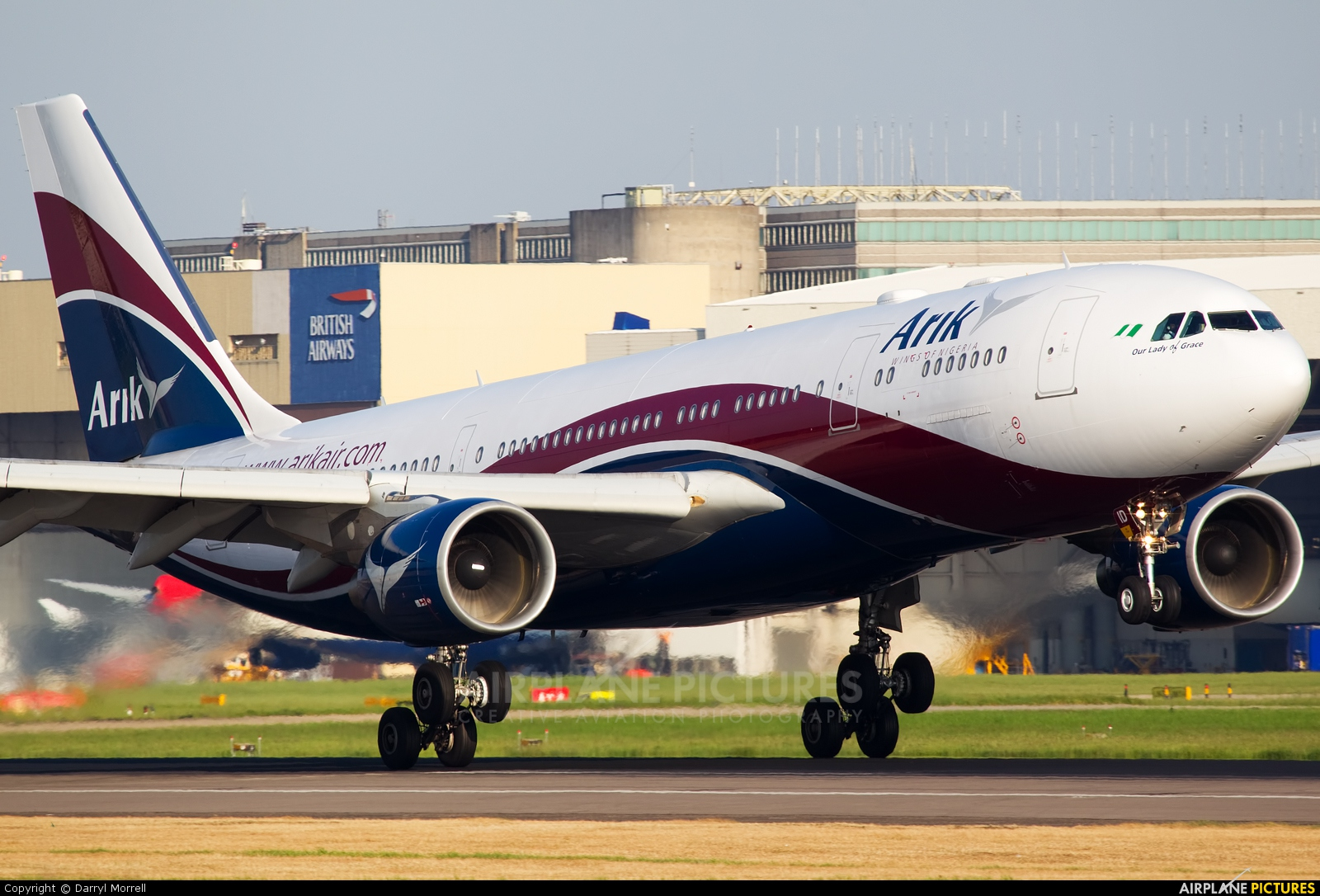 Arik Air 5N-JID aircraft at London - Heathrow