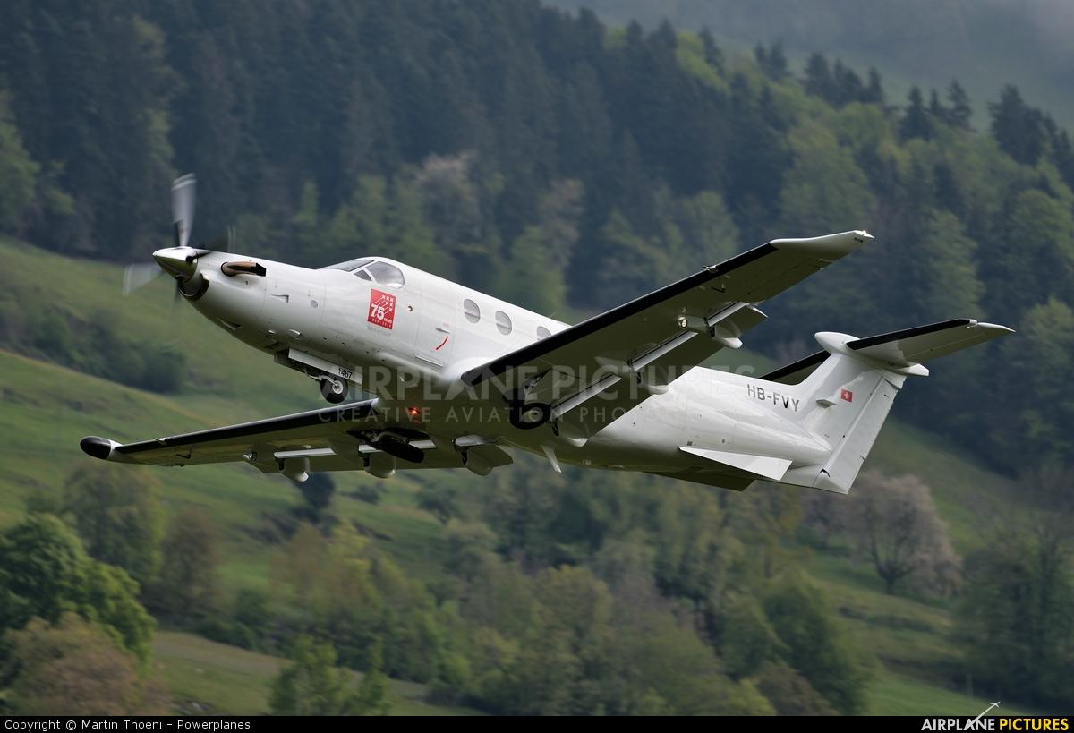 Pilatus HB-FVY aircraft at Buochs
