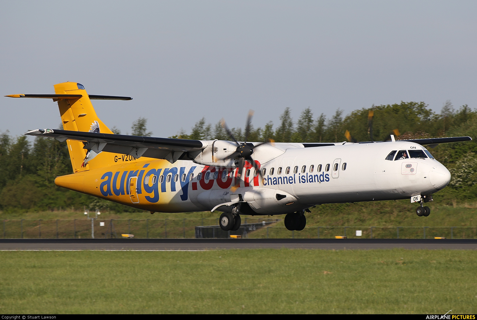 Aurigny Air Services G-VZON aircraft at Manchester