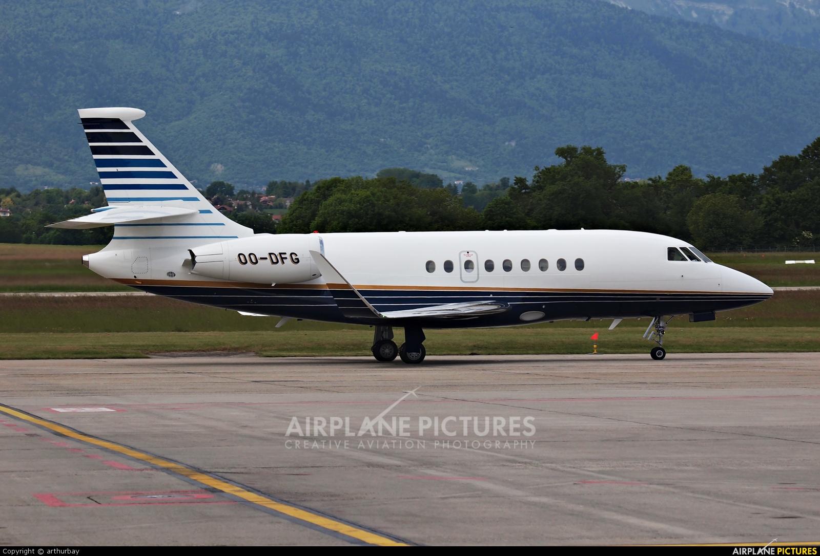 Abelag Aviation OO-DFG aircraft at Geneva Intl