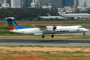 First US-Bangla Airlines Dash 8 arrives at Dhaka title=