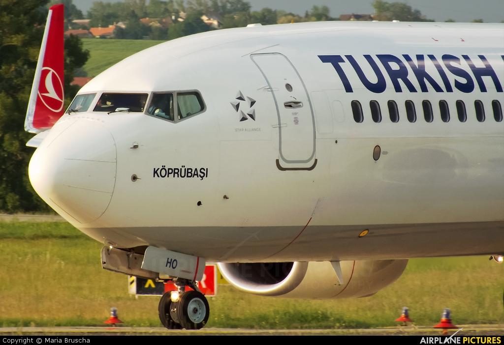 Turkish Airlines TC-JHO aircraft at Budapest Ferenc Liszt International Airport