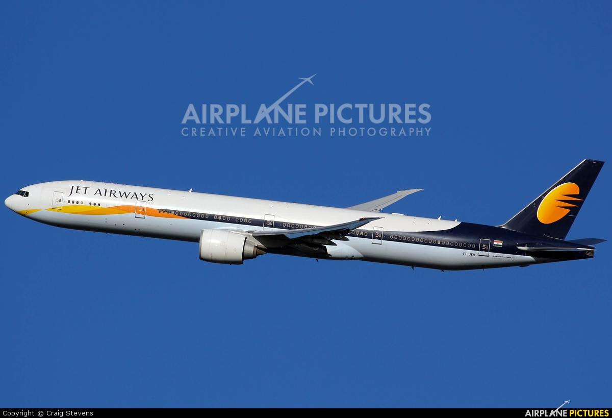 Jet Airways VT-JEH aircraft at London - Heathrow