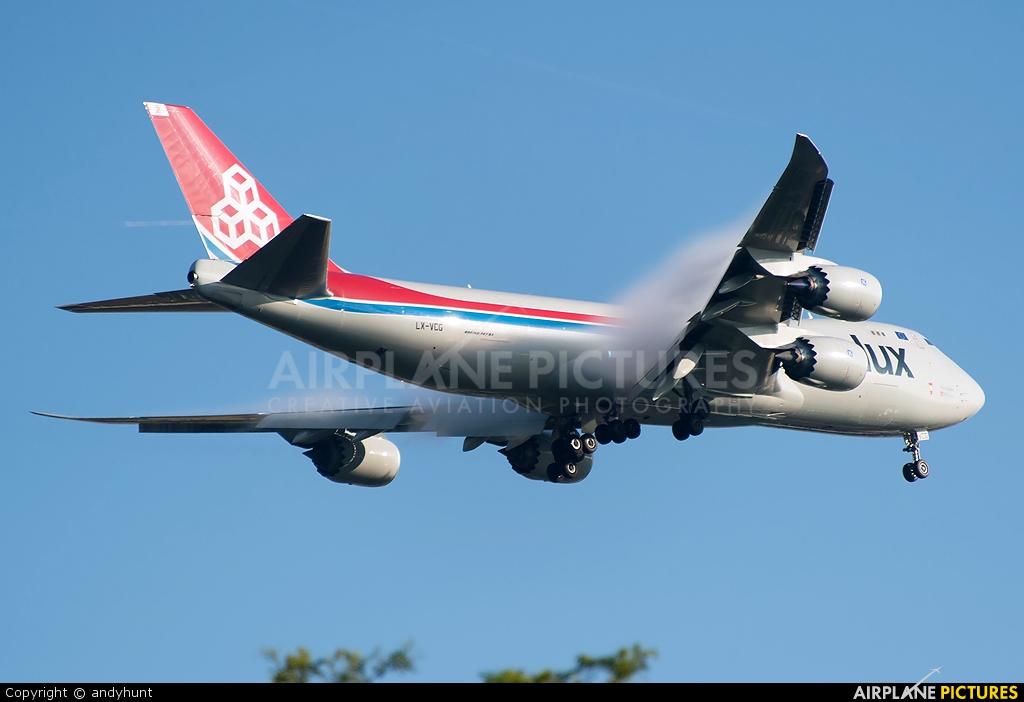 Cargolux LX-VCG aircraft at Singapore - Changi