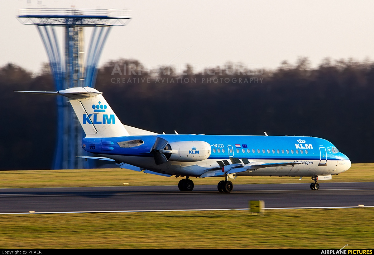 KLM Cityhopper PH-WXD aircraft at Luxembourg - Findel