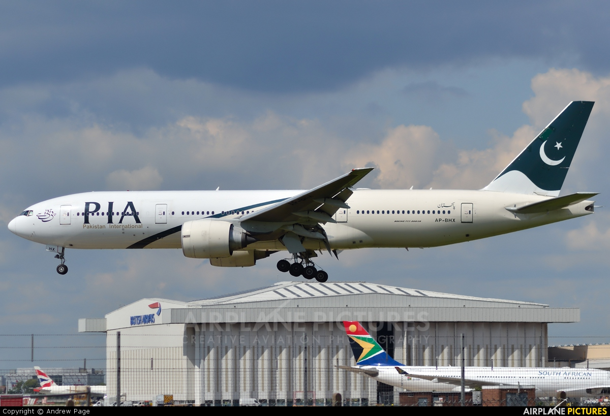 PIA - Pakistan International Airlines AP-BHX aircraft at London - Heathrow
