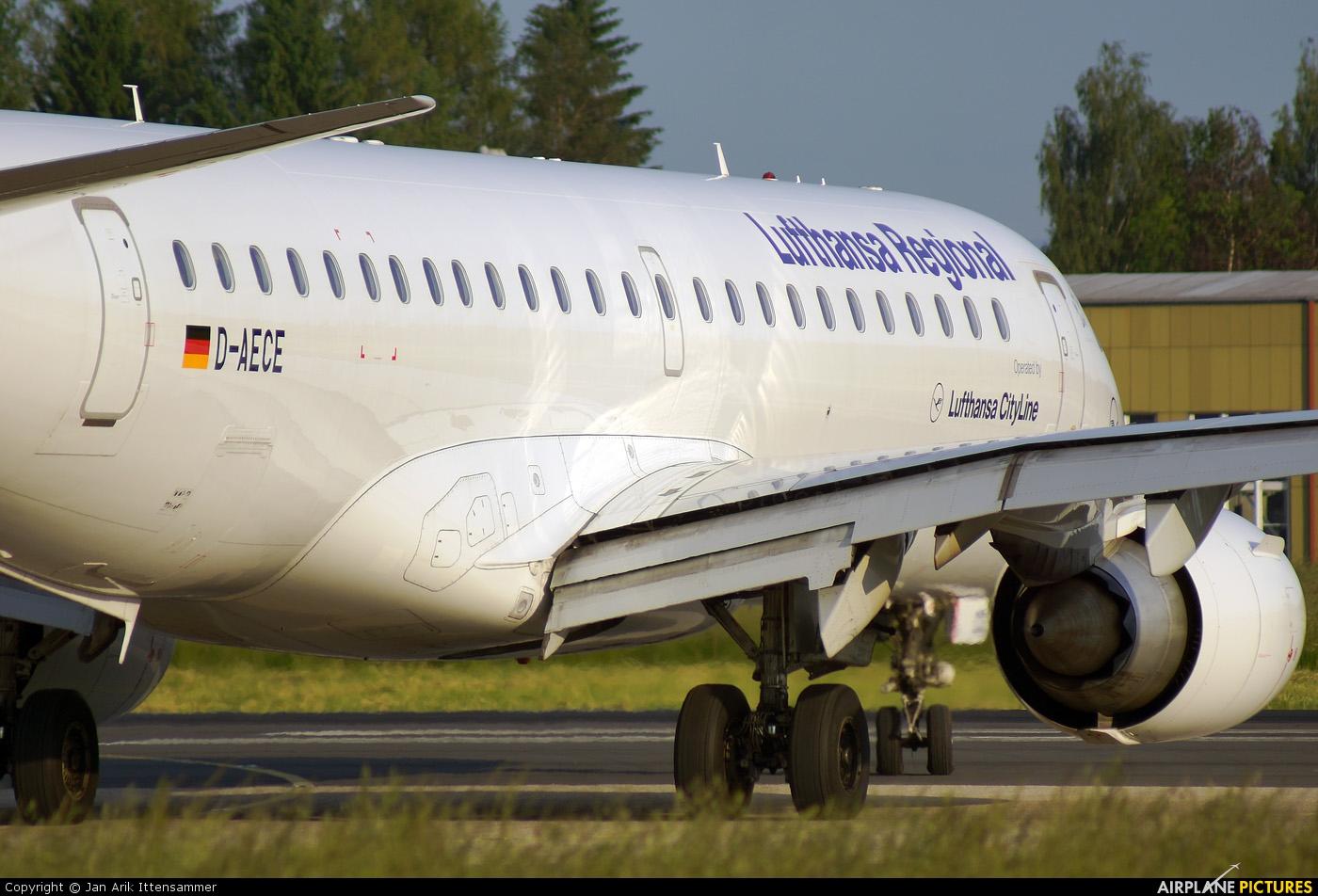 Lufthansa Regional - CityLine D-AECE aircraft at Linz