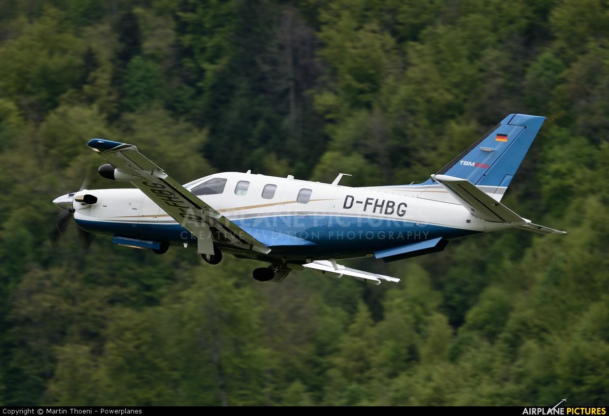 Private D-FHBG aircraft at Buochs