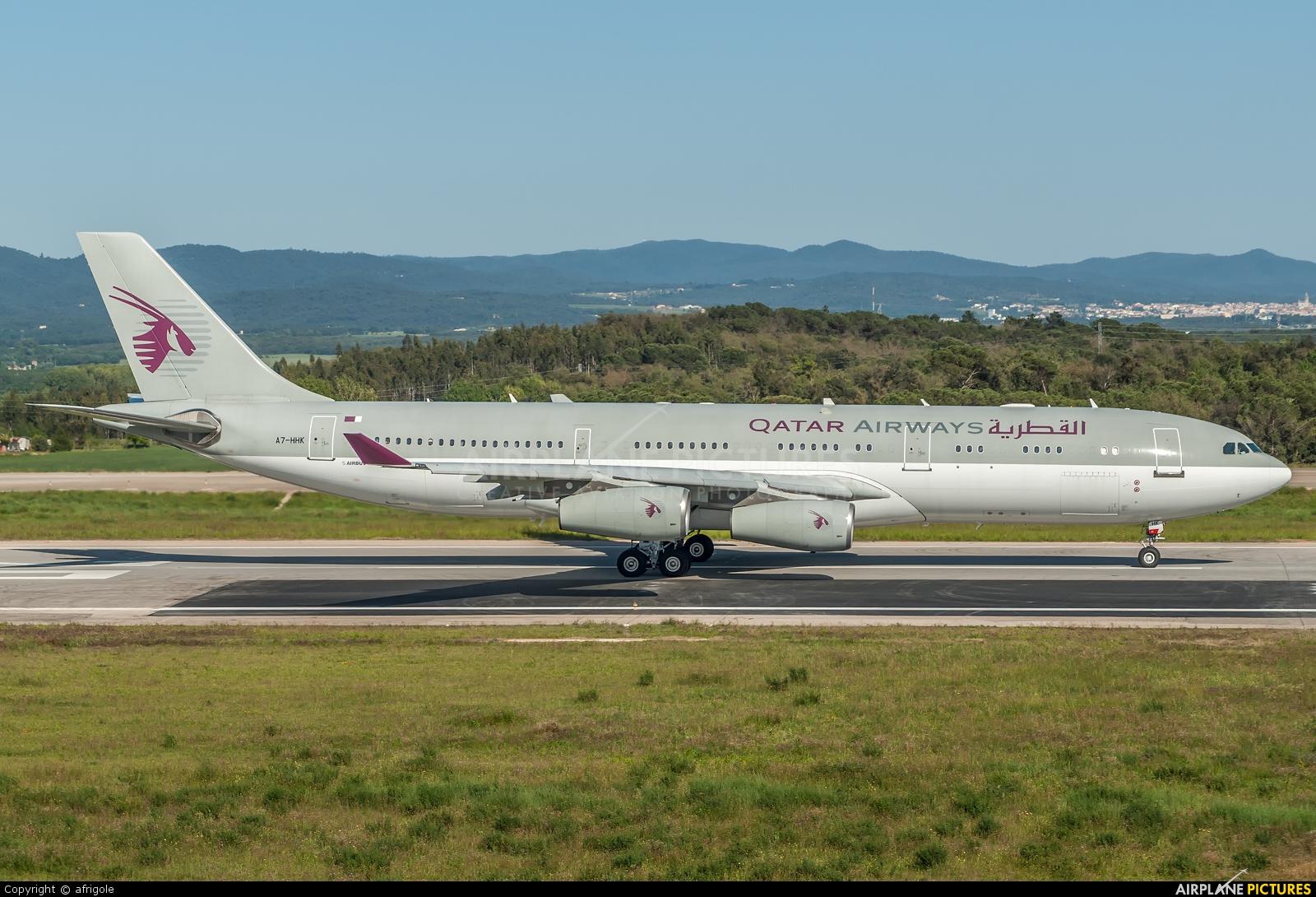 Qatar Amiri Flight A7-HHK aircraft at Girona - Costa Brava