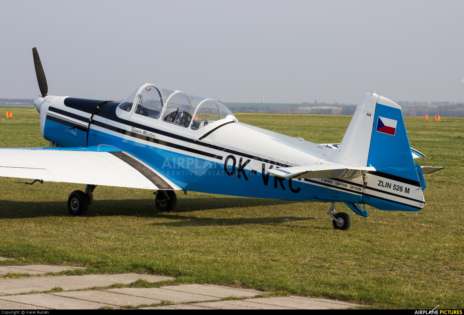 Private OK-VRC aircraft at Slaný