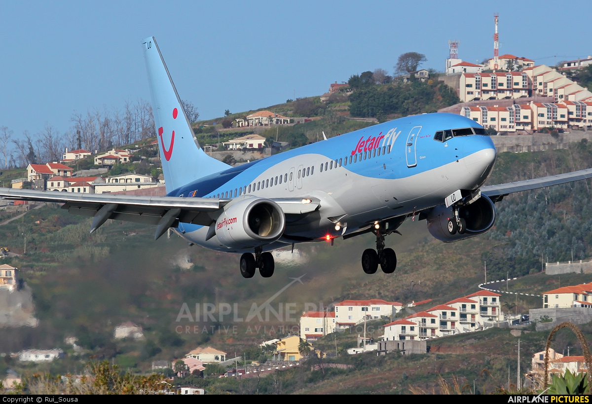 Jetairfly (TUI Airlines Belgium) OO-JLO aircraft at Madeira