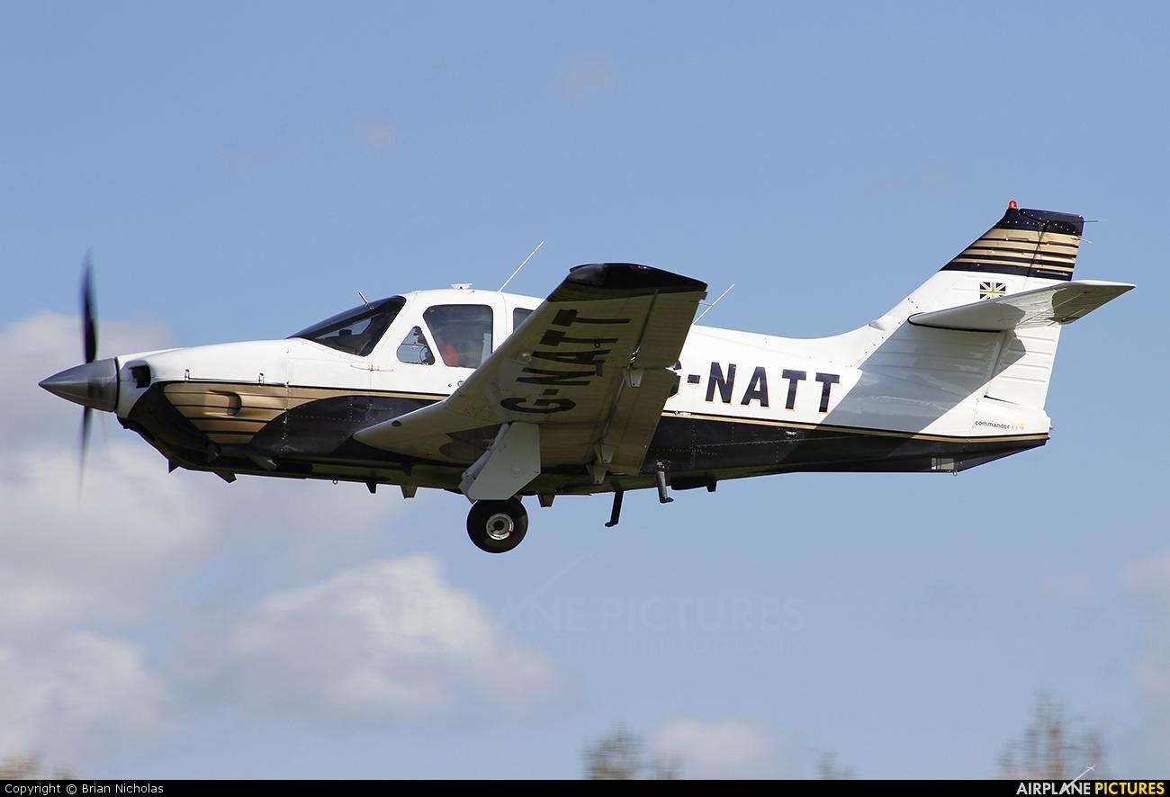 Private G-NATT aircraft at Welshpool