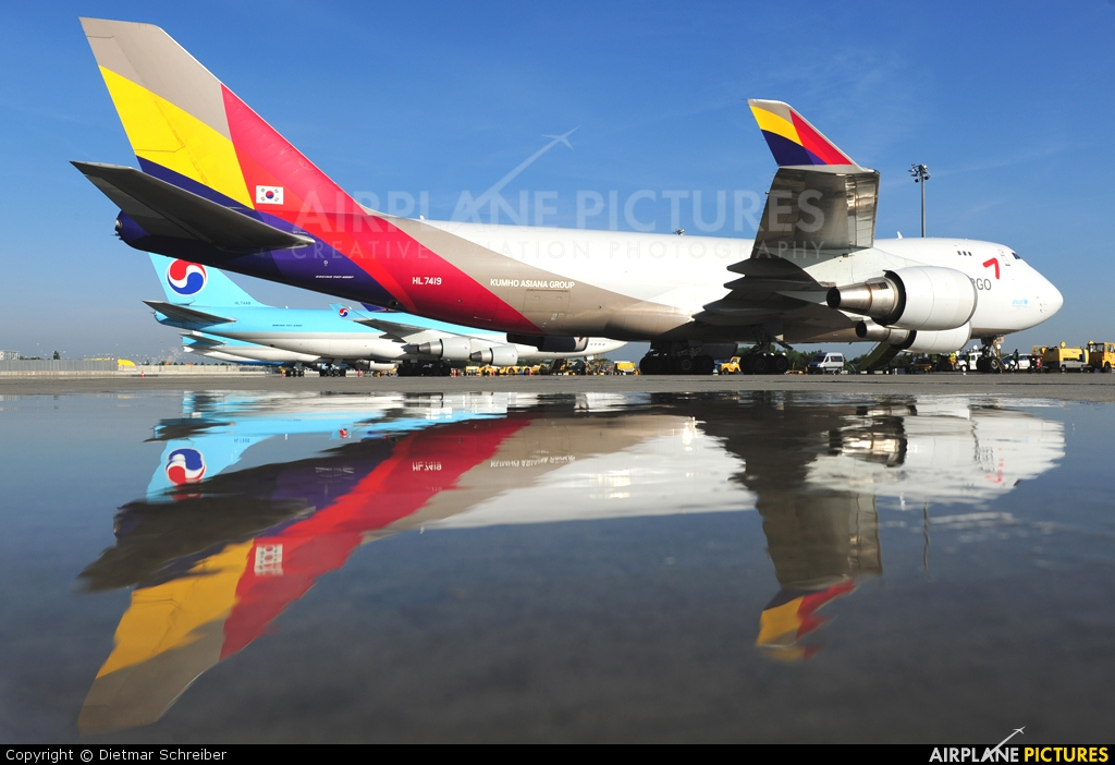 Asiana Cargo HL7419 aircraft at Vienna - Schwechat