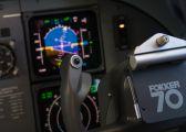 - - KLM Fokker 70 aircraft