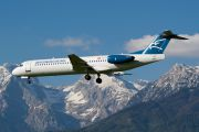 4O-AOM - Montenegro Airlines Fokker 100 aircraft