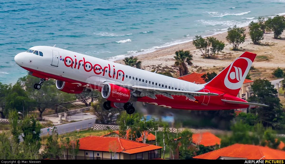 D-ABNB - Air Berlin Airbus A320 at Samos | Photo ID 399647 ...