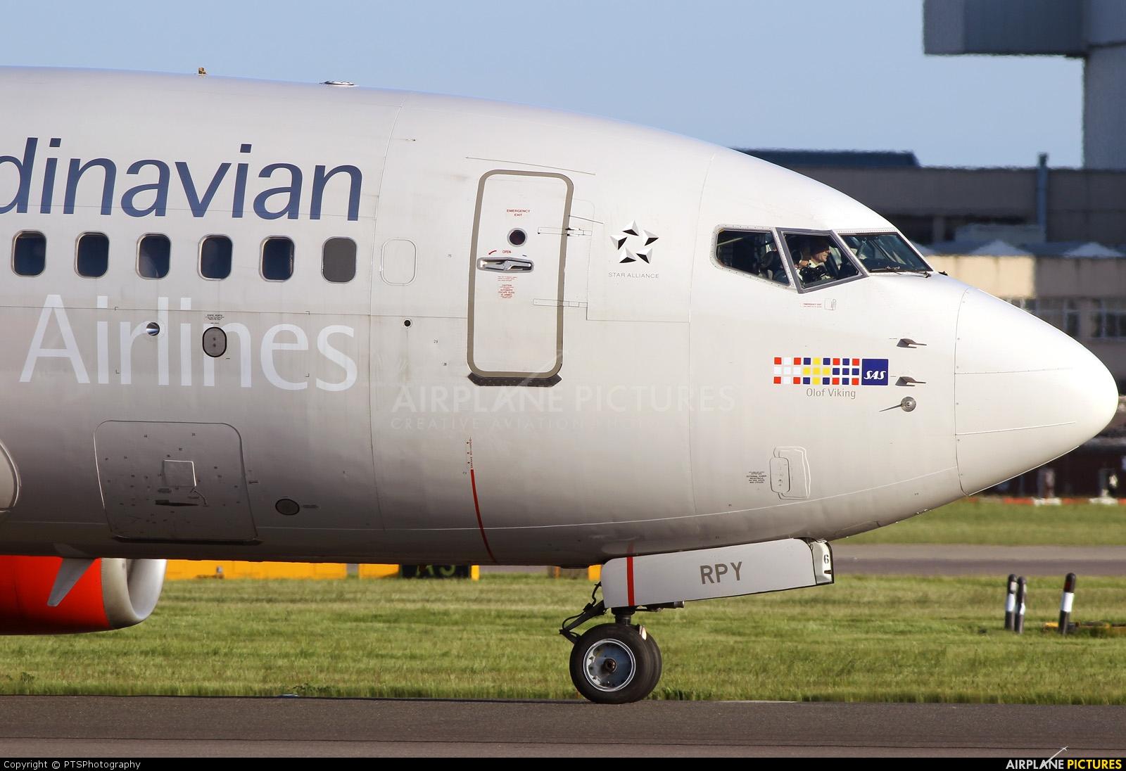 SAS - Scandinavian Airlines LN-RPY aircraft at London - Heathrow