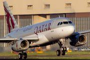 A7-CJA - Qatar Airways Airbus A319 aircraft