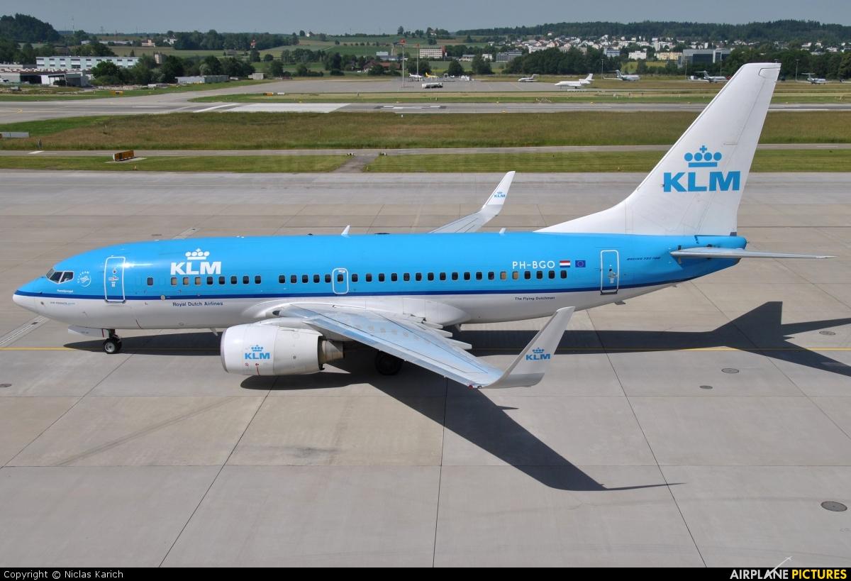 KLM PH-BGO aircraft at Zurich