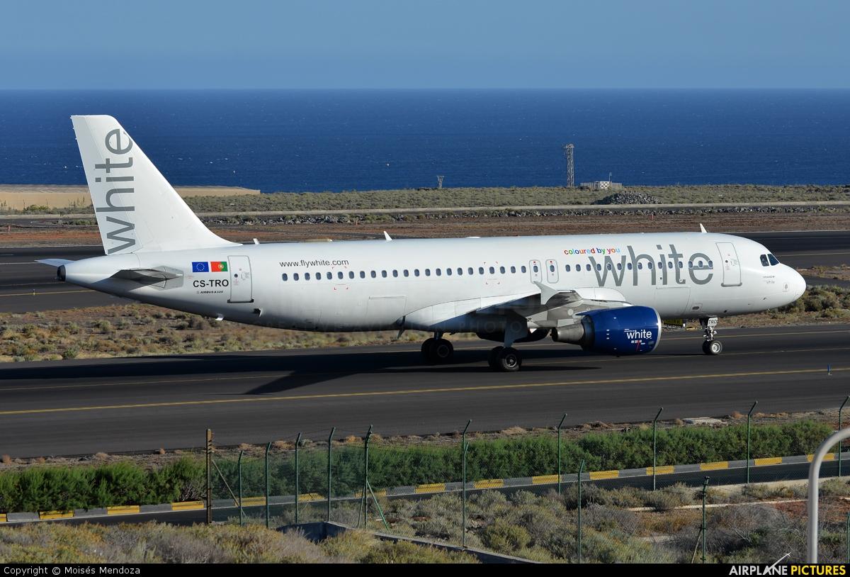 White Airways CS-TRO aircraft at Tenerife Sur - Reina Sofia
