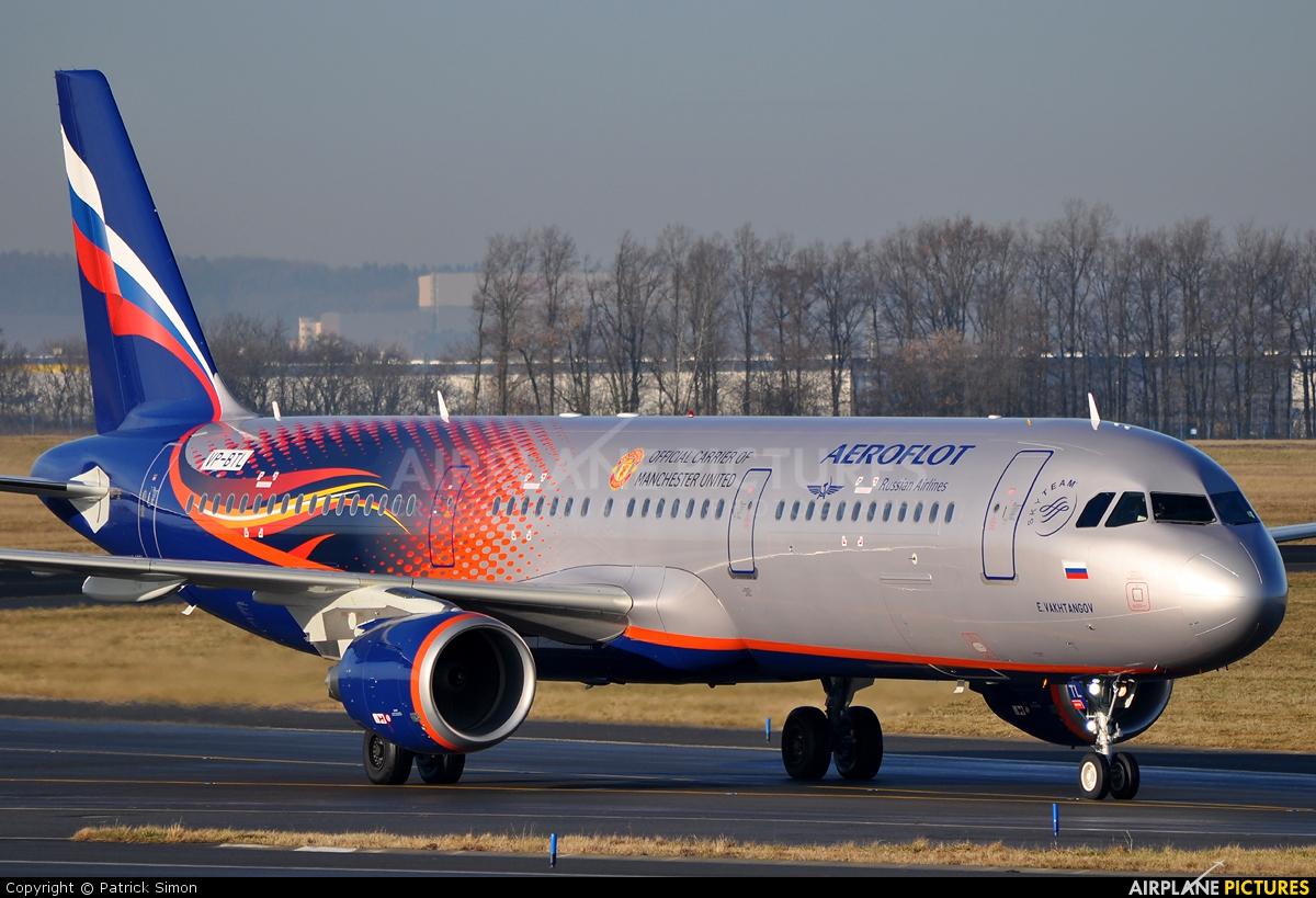 Aeroflot VP-BTL aircraft at Prague - Václav Havel