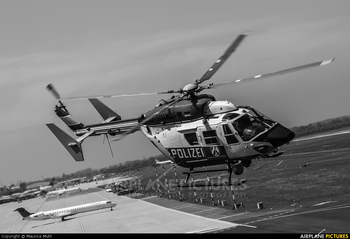 Germany - Police D-HNWL aircraft at Düsseldorf