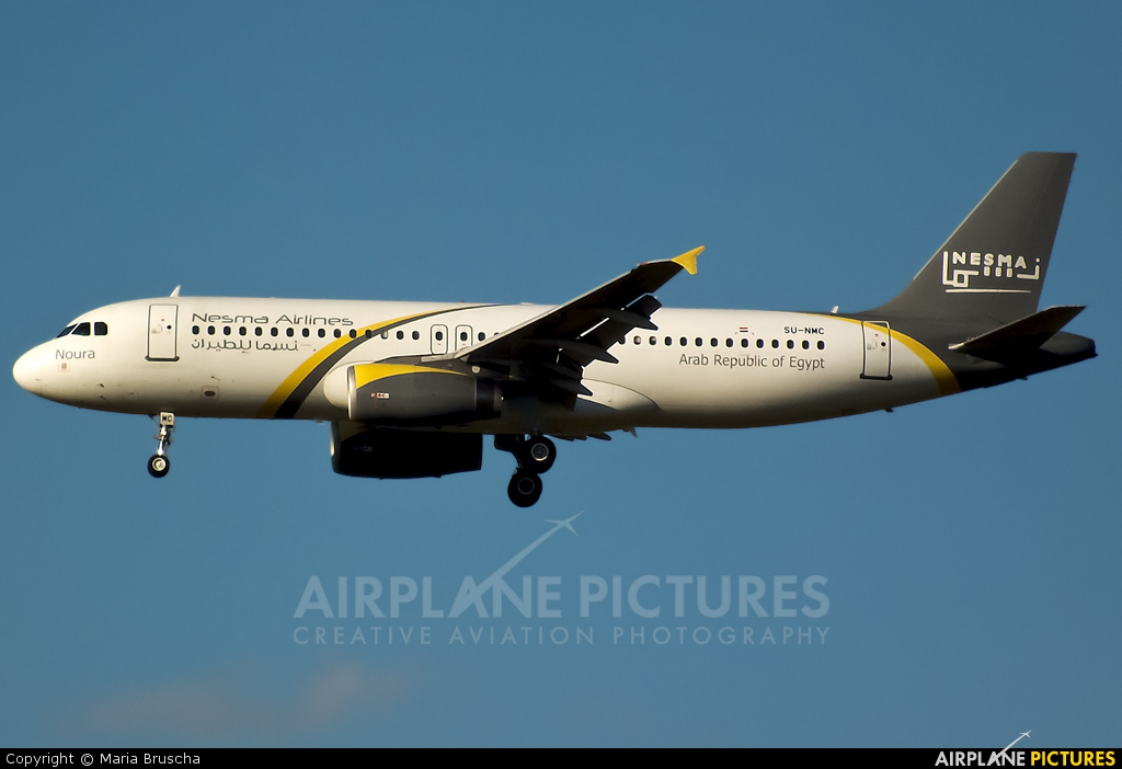 Nesma Airlines SU-NMC aircraft at Budapest Ferenc Liszt International Airport