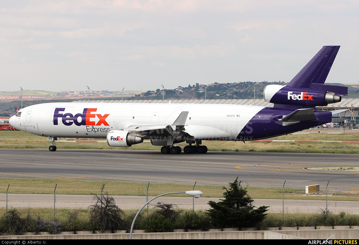 FedEx Federal Express N631FE aircraft at Madrid - Barajas