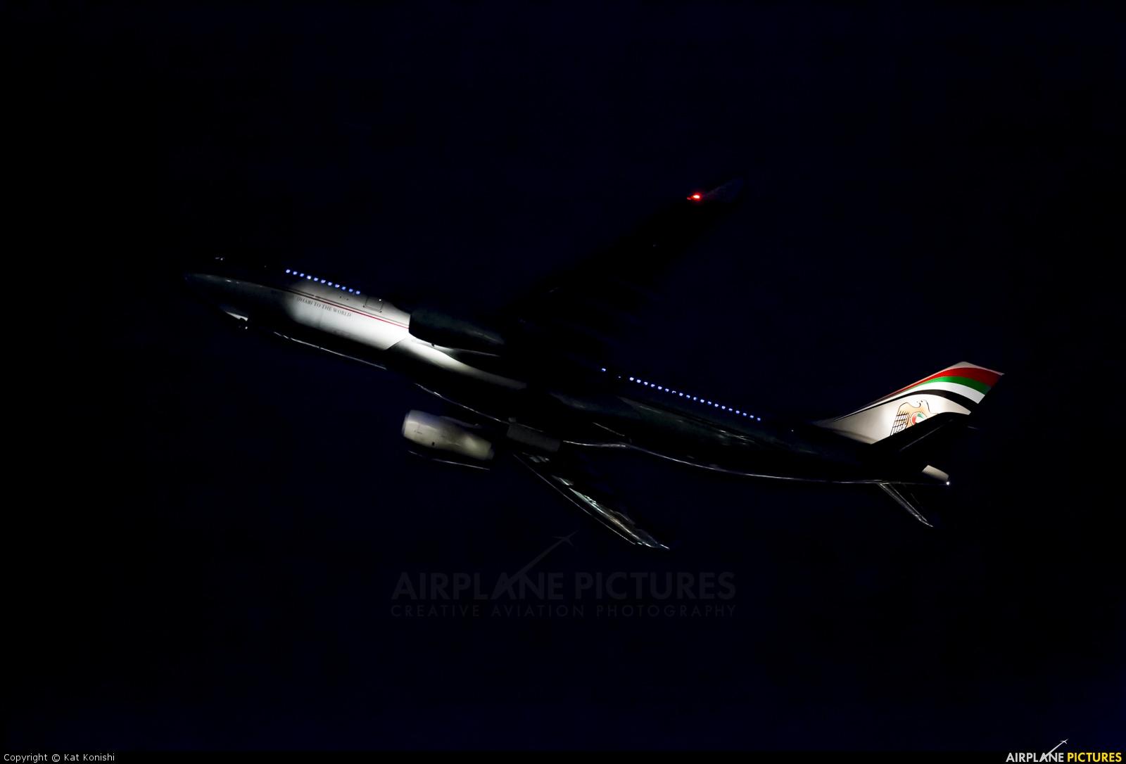 Etihad Airways A6-EYP aircraft at Tokyo - Narita Intl