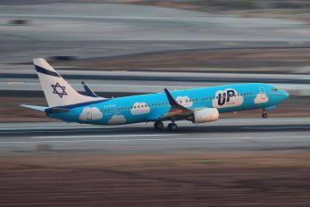 4X-EKU - El Al - UP Boeing 737-800