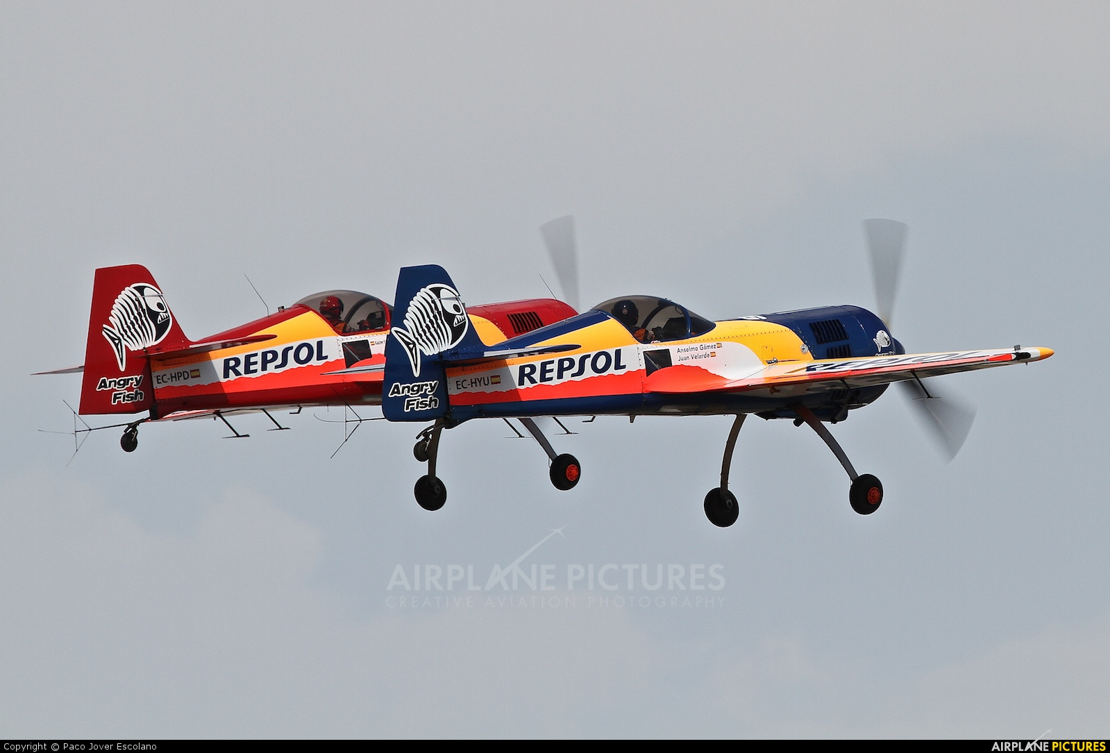 Bravo3/Repsol Team EC-HYU aircraft at Sabadell