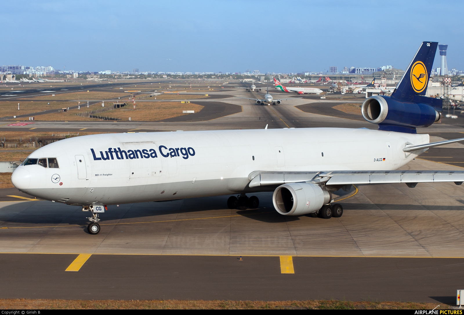 Lufthansa Cargo D-ALCG aircraft at Mumbai - Chhatrapati Shivaji Intl