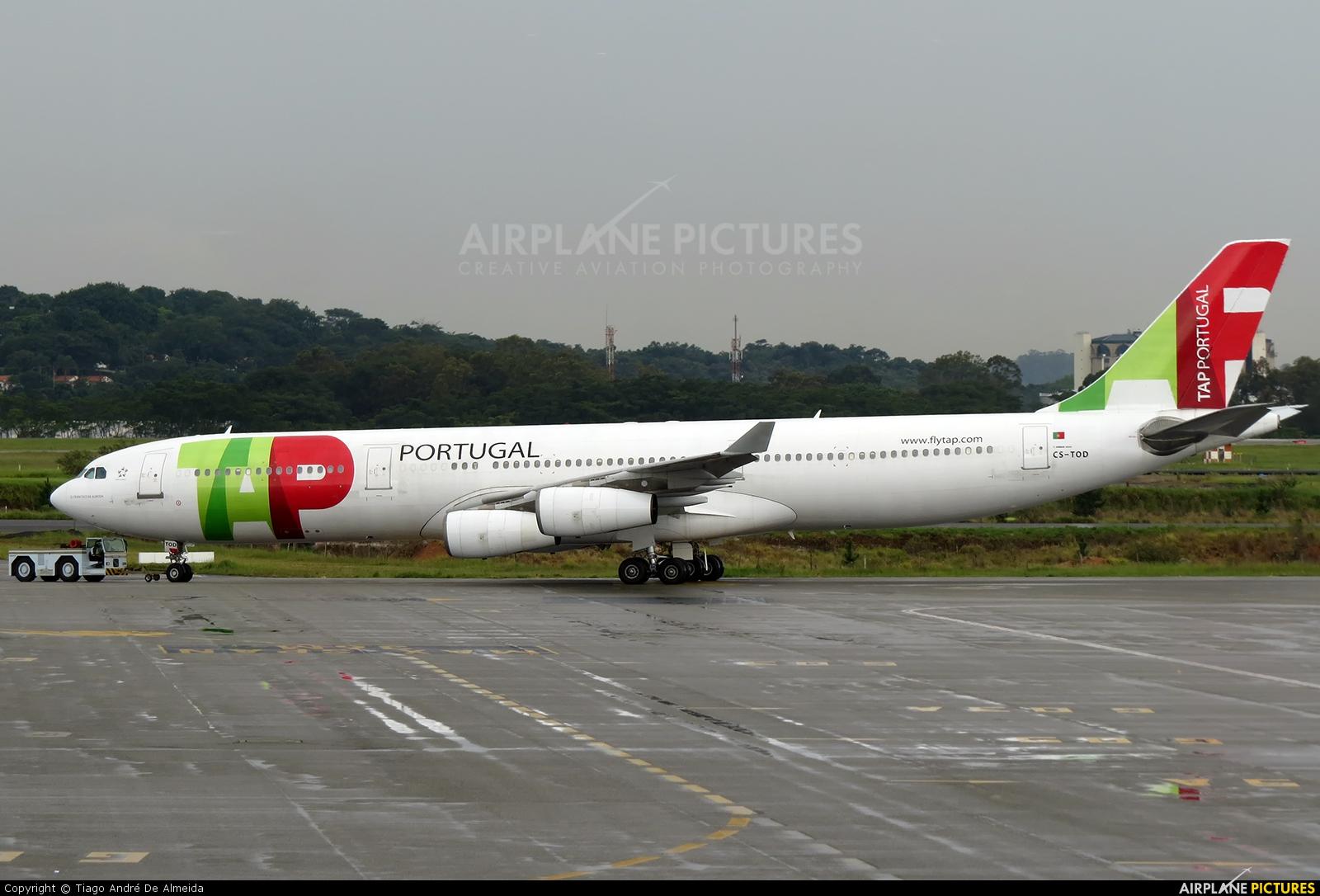 TAP Portugal CS-TOD aircraft at São Paulo - Guarulhos