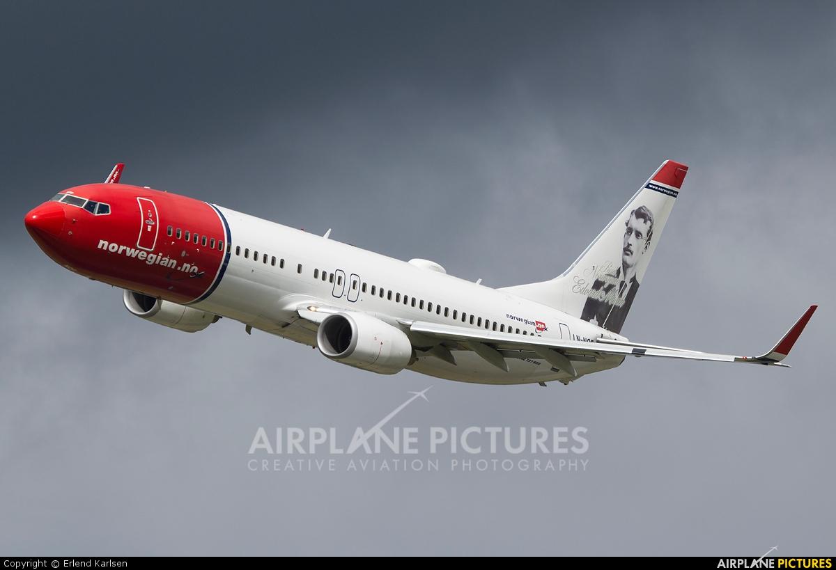 Norwegian Air Shuttle LN-NOF aircraft at Trondheim - Vaernes