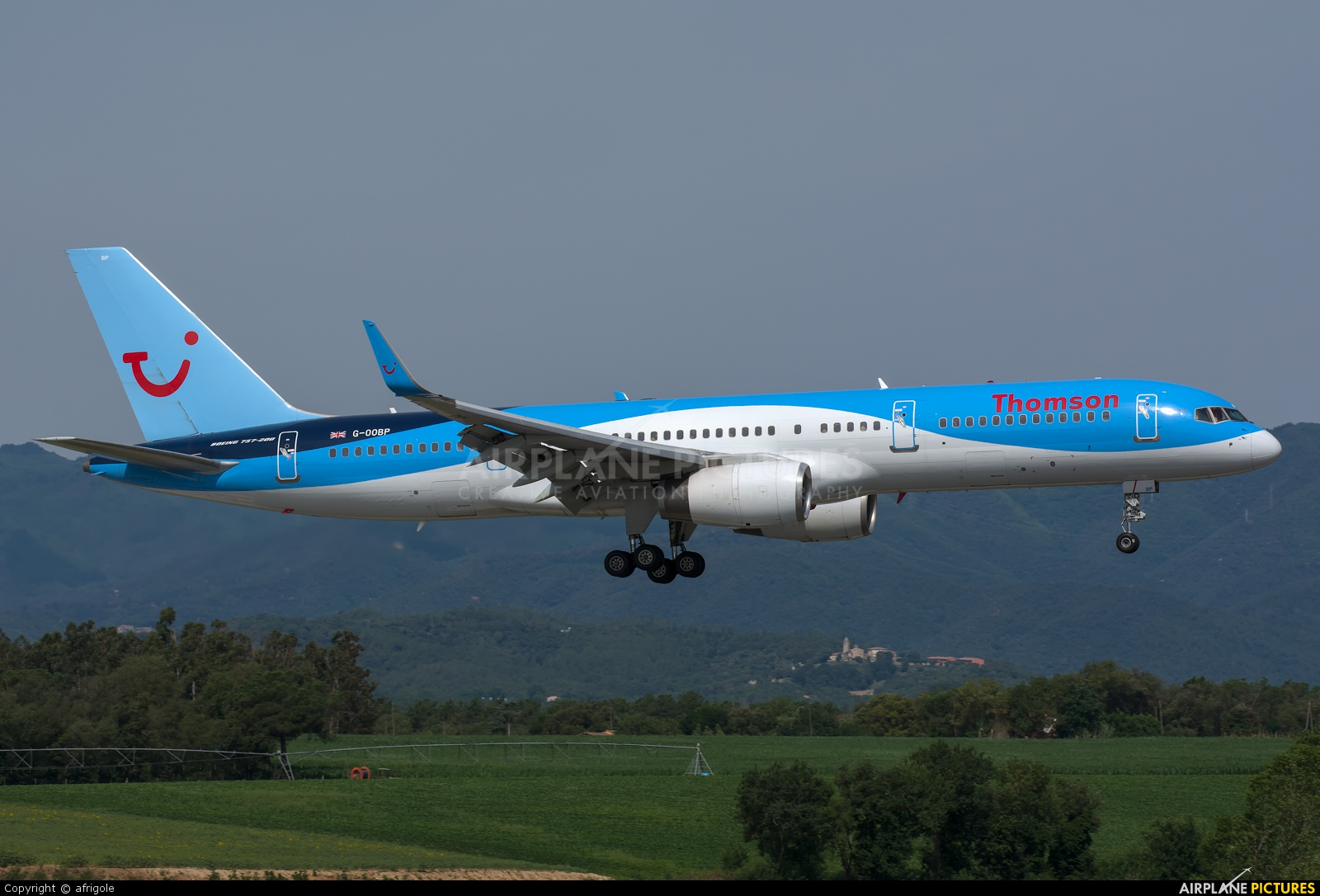 Thomson/Thomsonfly G-OOBP aircraft at Girona - Costa Brava