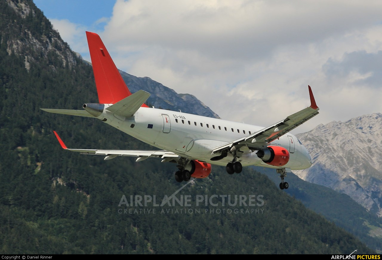 Estonian Air ES-AEB aircraft at Innsbruck