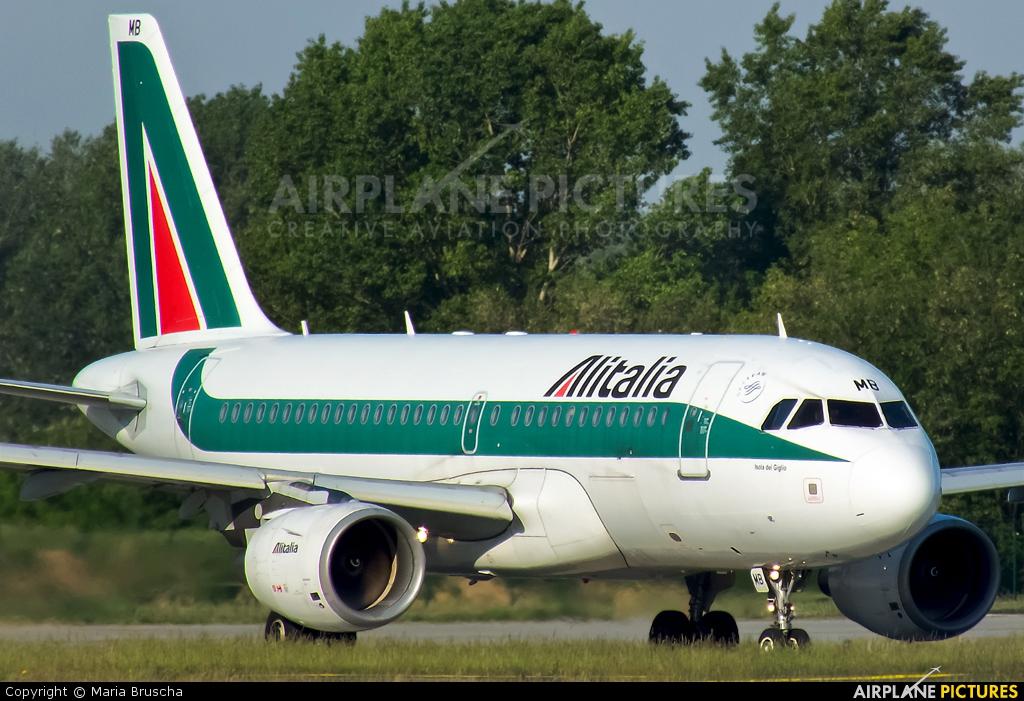 Alitalia EI-IMB aircraft at Budapest Ferenc Liszt International Airport
