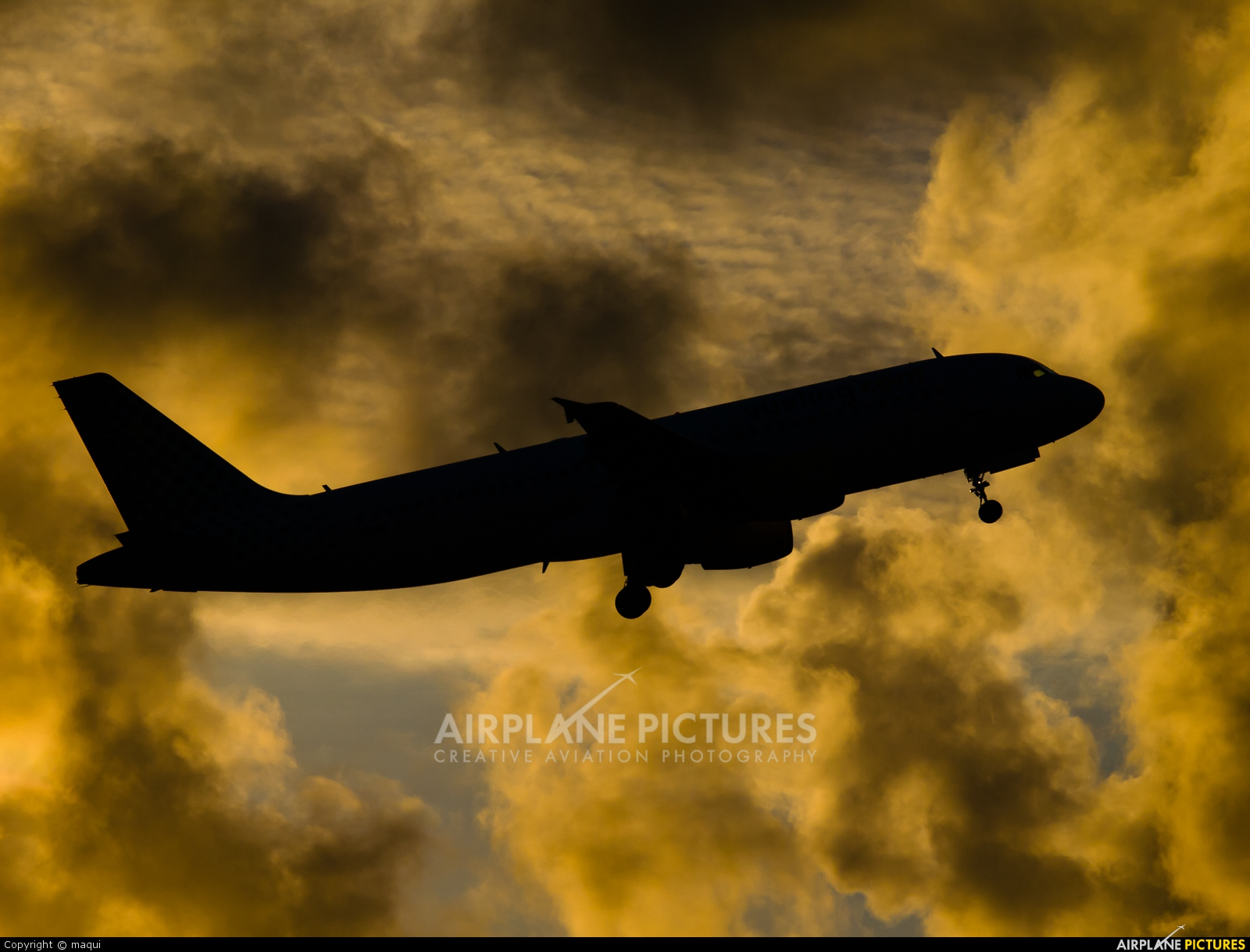 Vueling Airlines EC-KRH aircraft at La Coruña
