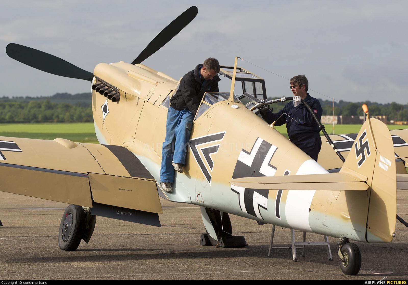 Spitfire G-AWHE aircraft at Duxford