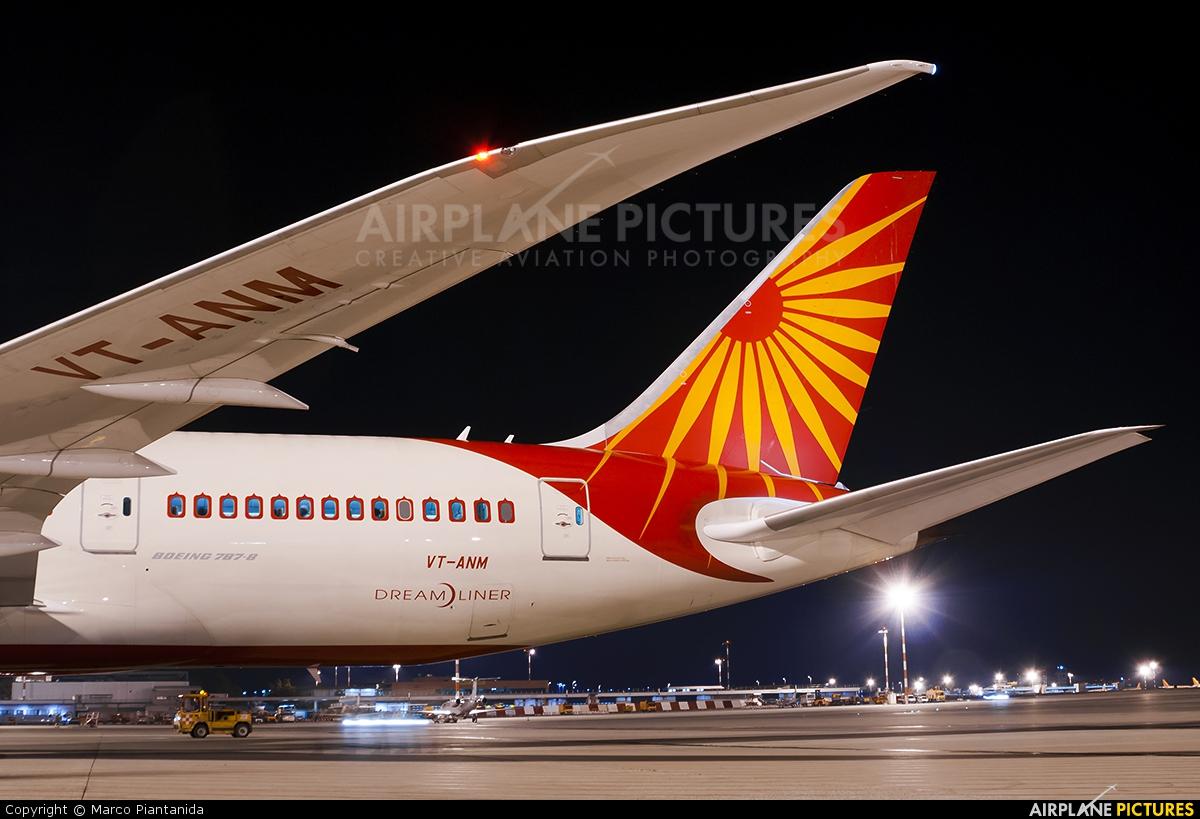 Air India VT-ANM aircraft at Milan - Malpensa