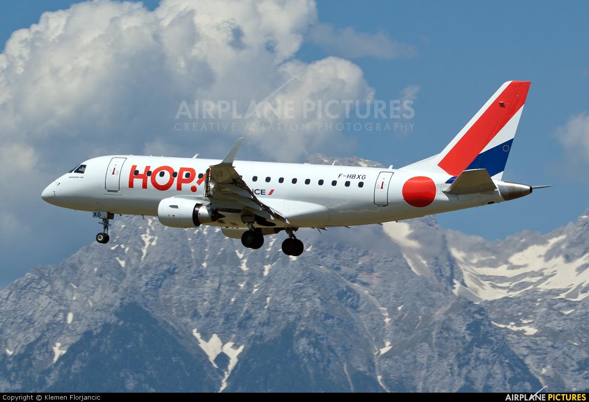 Air France - Hop! F-HBXG aircraft at Ljubljana - Brnik