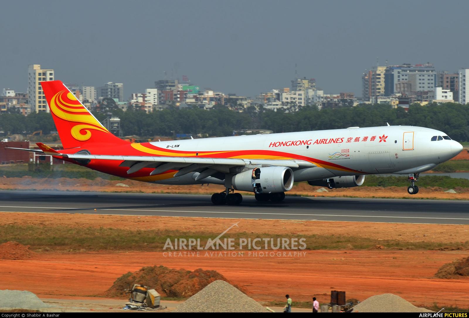 Hong Kong Airlines B-LNW aircraft at Dhaka - Hazrat Shahjala Intl