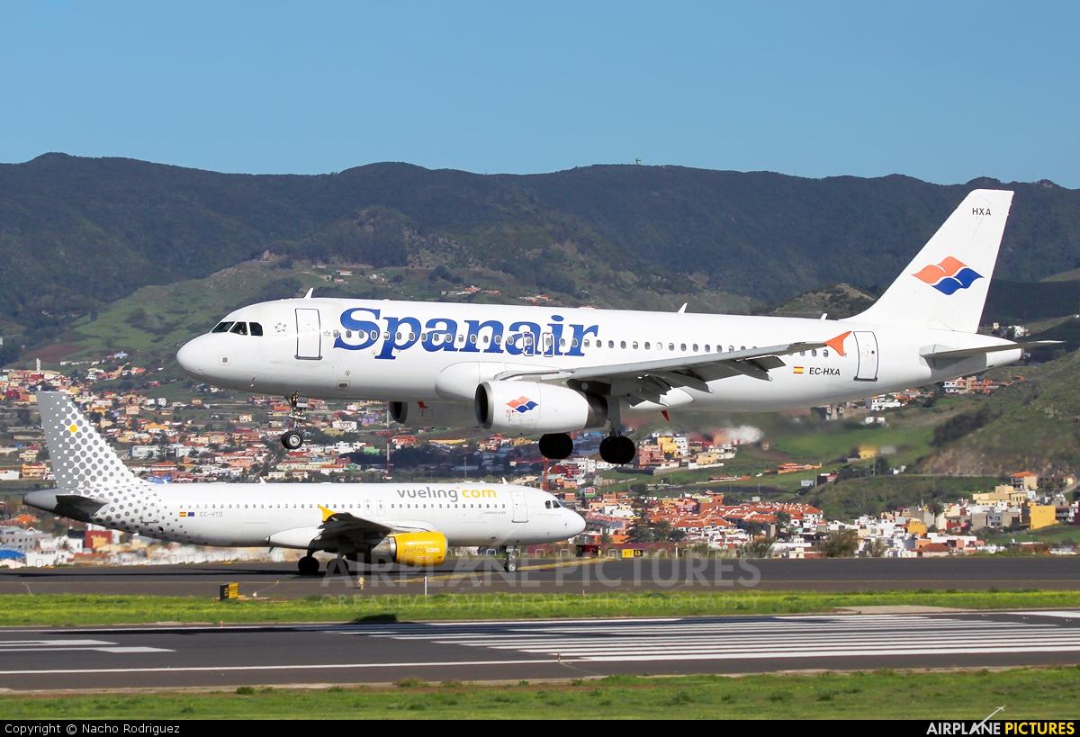 Spanair EC-HXA aircraft at Tenerife Norte - Los Rodeos