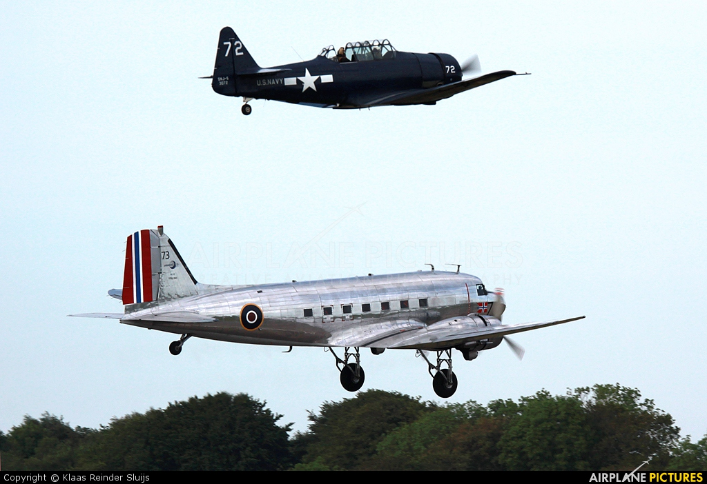 Dakota Norway LN-WND aircraft at Cherbourg-Maupertus