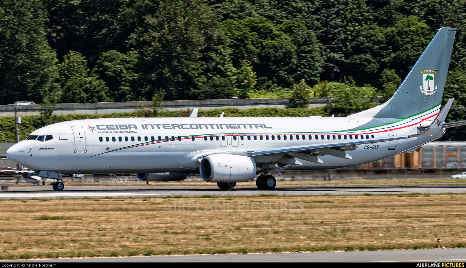 Ceiba Intercontinental CS-FAF aircraft at Seattle - Boeing Field / King County Intl