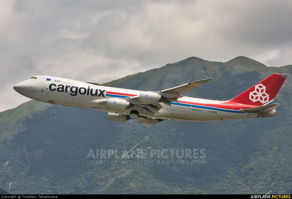 Cargolux LX-VCD aircraft at HKG - Chek Lap Kok Intl