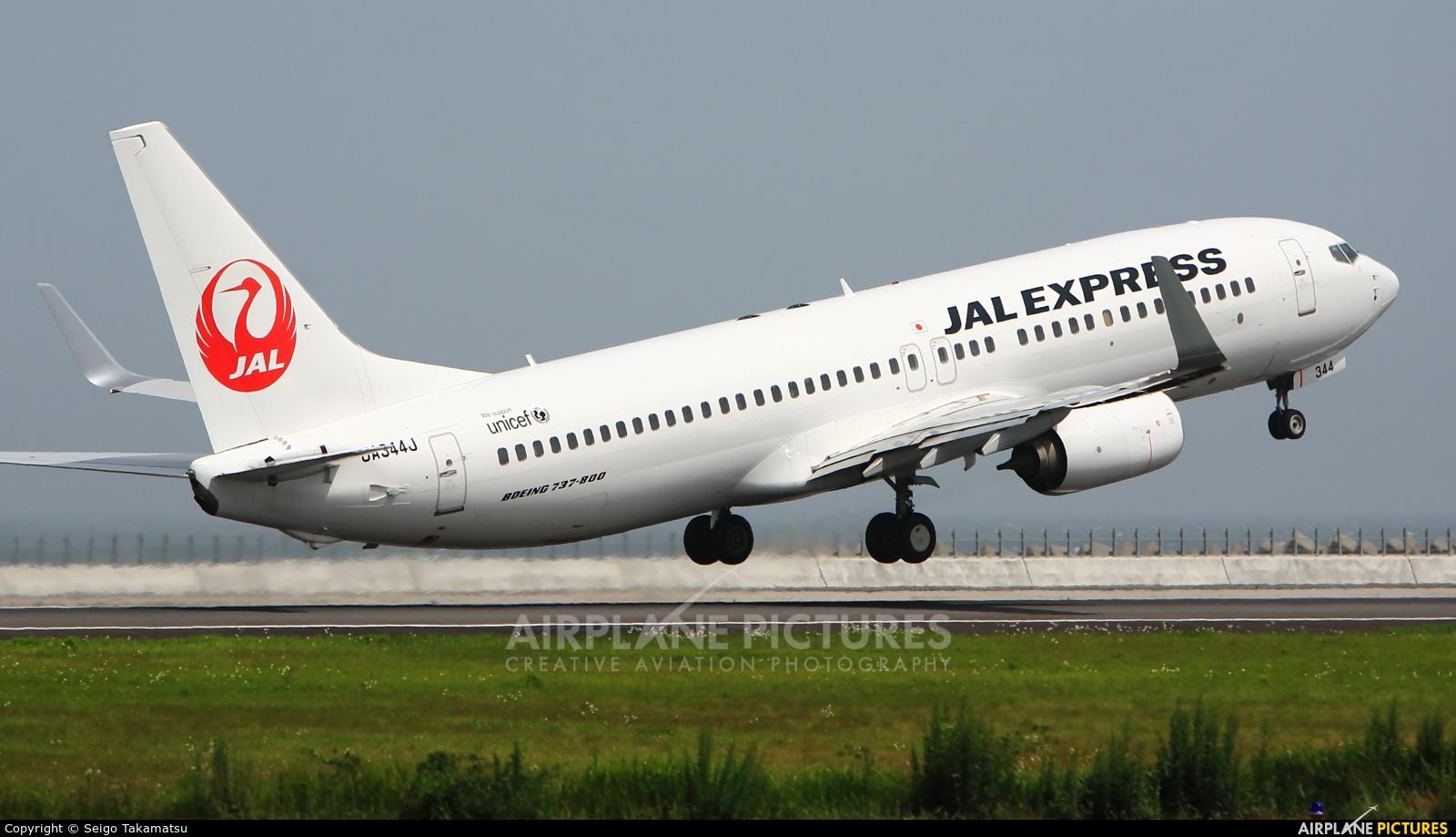 JAL - Express JA344J aircraft at Oita