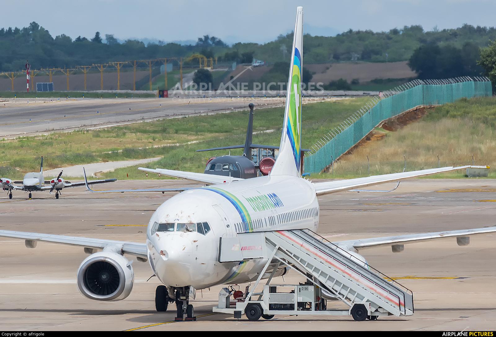Transavia PH-HZN aircraft at Girona - Costa Brava
